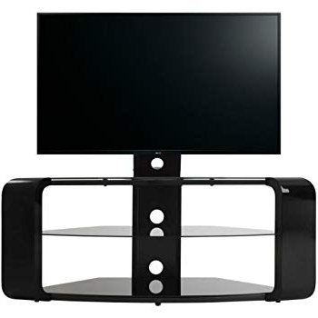 Avf Como Fsl1174Cob Gloss Black Cantilever Tv Stand: Amazon.co (View 4 of 20)