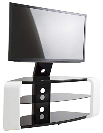 Avf Como Gloss White Cantilever Tv Stand: Amazon.co.uk: Electronics In Most Recent Cantilever Tv Stands (Gallery 4 of 20)