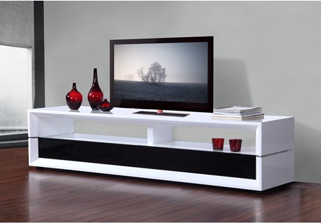 "B Modern Executive 78.7"" High Gloss White Tv Stand – Bm 629 Wht Throughout Most Current Gloss White Tv Stands (Gallery 15 of 20)"