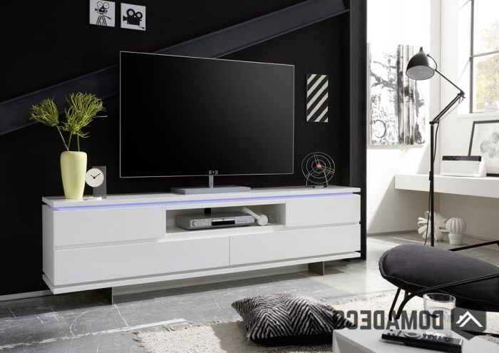 Balin – White Modern Tv Stand Within Trendy White Contemporary Tv Stands (Gallery 1 of 20)
