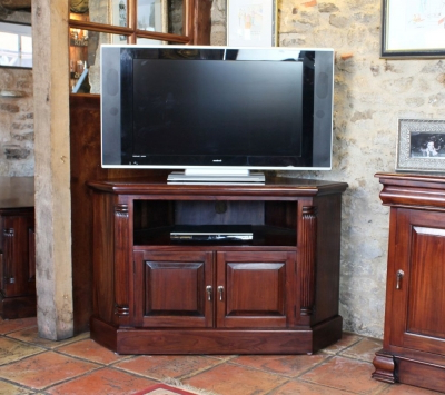 Baumhaus La Roque Mahogany Corner Television Cabinet Throughout Most Recently Released Mahogany Corner Tv Cabinets (View 9 of 20)