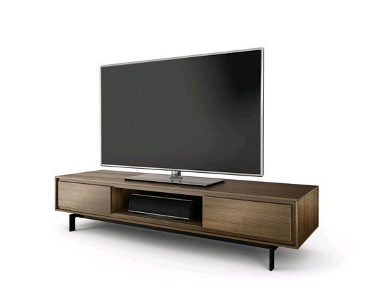 Bdi Signal 8323 Walnut Low Tv Cabinet Pertaining To 2018 Walnut Tv Cabinets With Doors (Gallery 2 of 20)