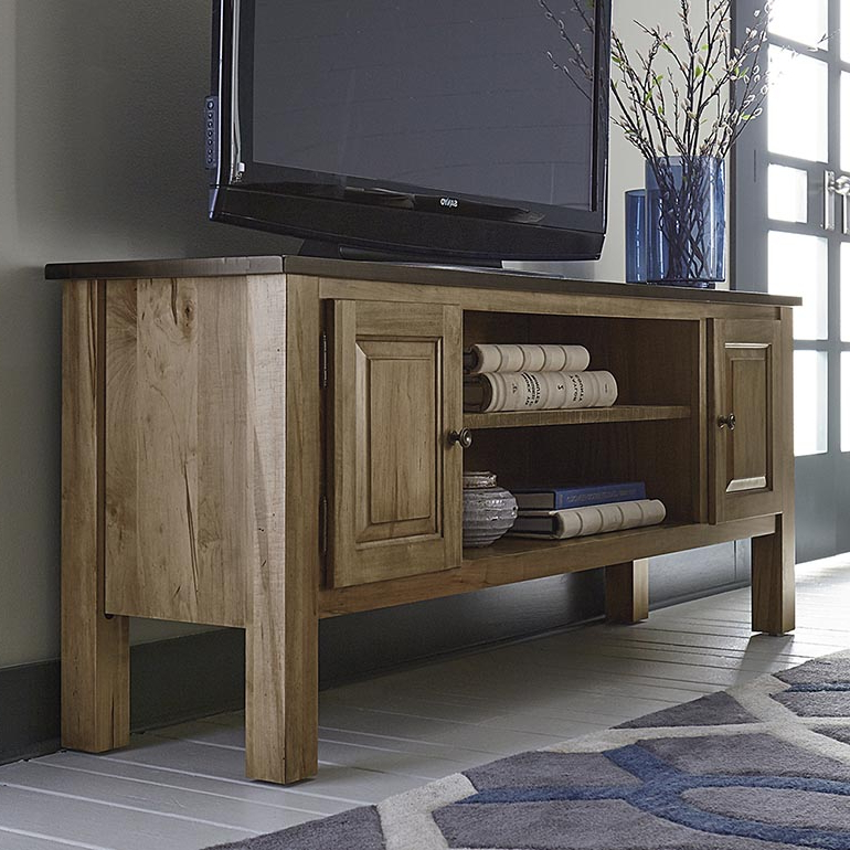 "Bench*made Maple Homestead 74"" Credenza Medium Intended For Current Casey Umber 74 Inch Tv Stands (Gallery 5 of 20)"