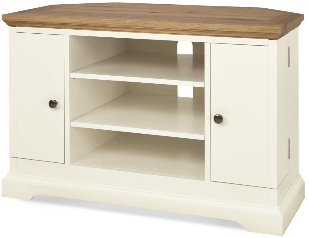 Bentley Designs Provence Two Corner Tv Cabinets Uk Tv Cabinet Shoe In Preferred White Painted Tv Cabinets (View 8 of 20)