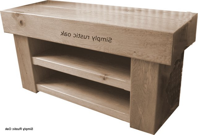 Bespoke Handmade Rustic Oak Beam Tv Stands – Simply Rustic Oak With Well Known Rustic Wood Tv Cabinets (View 3 of 20)