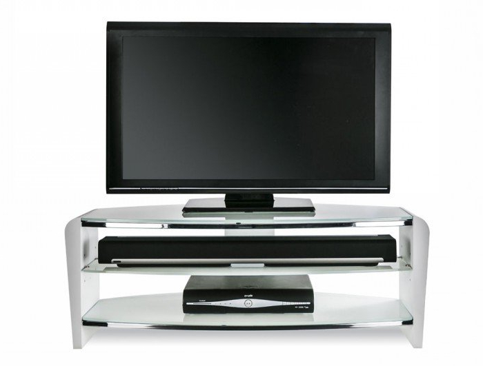 Best And Newest Alphason Francium Large White Tv Stand – Frn1100/arctic With Regard To Large White Tv Stands (View 3 of 20)