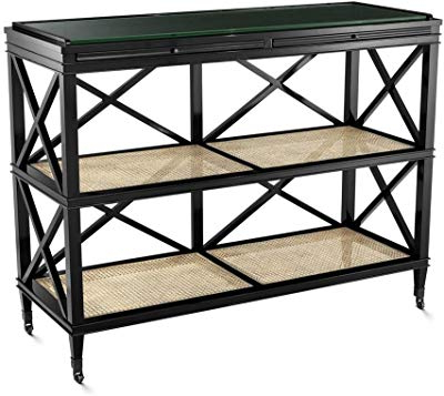 Best And Newest Amazon: Gwg Outlet Twisted Ribbon Iron Base Console In Antique With Regard To Natural Cane Media Console Tables (View 4 of 20)