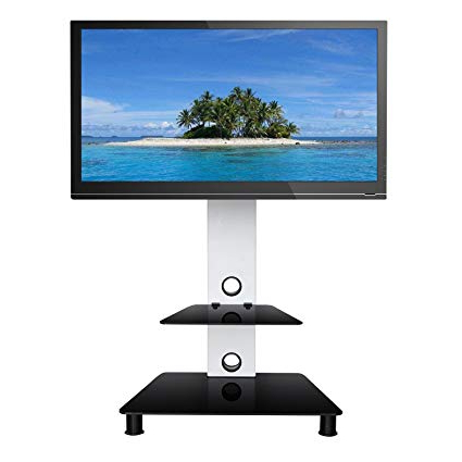 Best And Newest Amazon: Sevenfans Swivel Floor Tv Stand With Mount, Lcd Led Pertaining To Tv Stands Swivel Mount (Gallery 15 of 20)