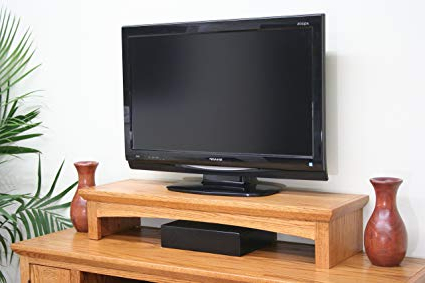 Best And Newest Amazon: Tv Riser Stand Oak Shaker Style With Medium Finish With Tv Riser Stand (Gallery 15 of 20)