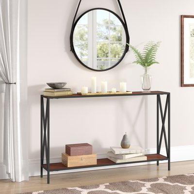 Best And Newest Andover Mills Abbottsmoor Metal Frame Console Table In 2018 With Mix Patina Metal Frame Console Tables (View 7 of 20)