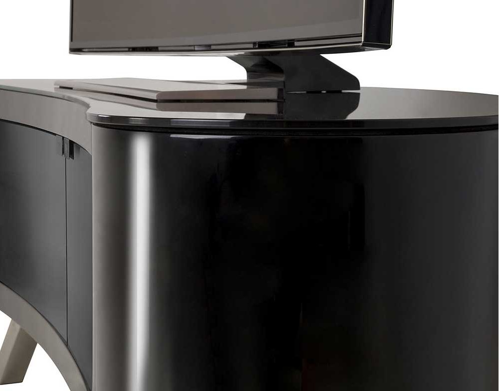 Best And Newest Avf Bay Curved Tv Stand In Black Throughout Curve Tv Stands (View 3 of 20)