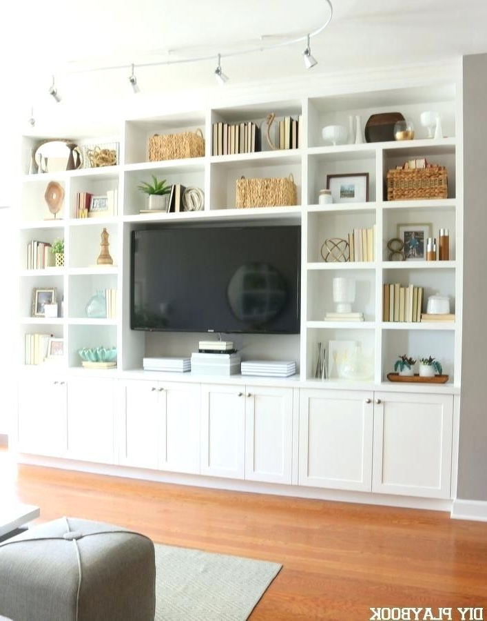 Best And Newest Bookcase Maggies Full Condo Tour Bookcase Tv Stand Combo Ikea Billy With Regard To Ikea Built In Tv Cabinets (View 1 of 20)