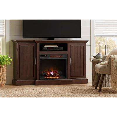 Best And Newest Cherry – Fireplace Tv Stands – Electric Fireplaces – The Home Depot Inside Sinclair White 68 Inch Tv Stands (View 7 of 20)