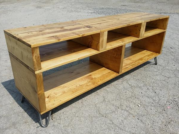 Best And Newest Diy Pallet Furniture: Tv Stand With Hairpin Legs – Modern Legs Intended For Hairpin Leg Tv Stands (Gallery 19 of 20)
