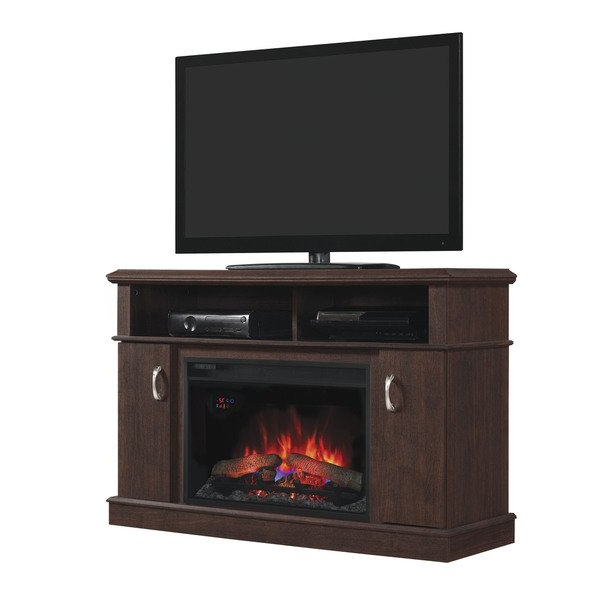 Best And Newest Dwell Tv Stands Throughout Shop Dwell Tv Stand With 26 Inch Electric Fireplace – Midnight (View 6 of 20)