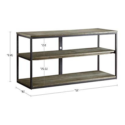 Best And Newest Gunmetal Media Console Tables Throughout Amazon: Cirque Media Console Table Grey See Below: Home & Kitchen (View 2 of 20)