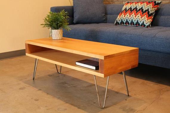 Best And Newest Hairpin Leg Tv Stands In Hairpin Leg Tv Stand Mid Century Modern Wood Coffee Table (Gallery 20 of 20)