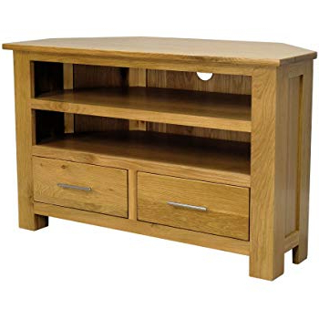 Best And Newest Lanner Oak Corner Tv Stand: Amazon.co.uk: Kitchen & Home With Regard To Oak Corner Tv Stands (Gallery 3 of 20)