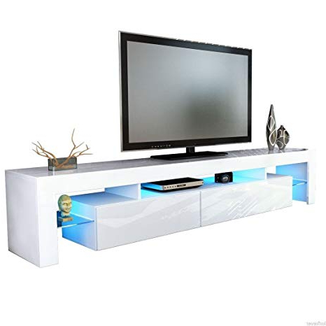 Best And Newest Modern Tv Entertainment Centers Regarding Amazon: Helios 200 Modern Tv Stand For Living Room Tv (View 9 of 20)