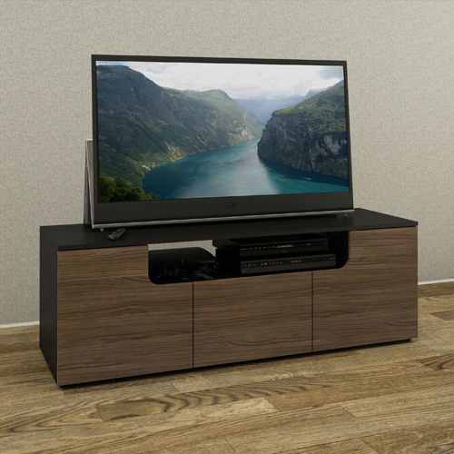 "Best And Newest Nexera Next Collection Tv Stand For Tvs Up To 64"" – Black/ Walnut Within Nexera Tv Stands (Gallery 14 of 20)"