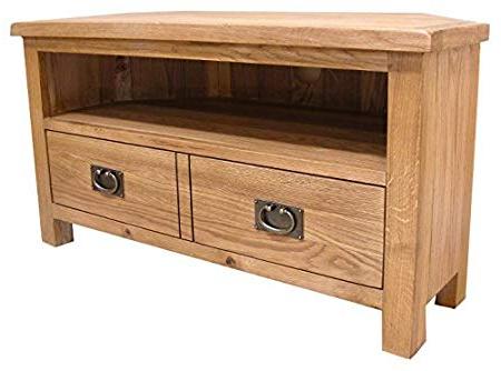 Best And Newest Oak Corner Tv Stands Regarding Lanner Oak Corner Tv Stand: Amazon.co (View 5 of 20)