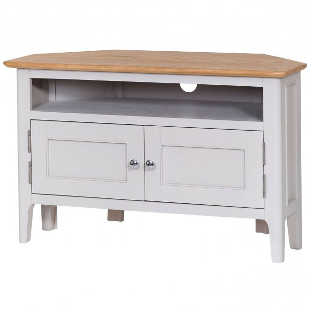 Best And Newest Painted Corner Tv Cabinets Pertaining To Woodley Painted Corner Tv Unit – Collingwood Batchellor (View 4 of 20)