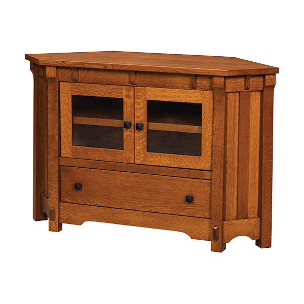 "Best And Newest Real Wood Corner Tv Stands Inside Manitoba Corner Tv Stand 50""w (Gallery 19 of 20)"