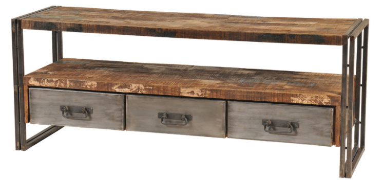 Best And Newest Reclaimed Wood And Metal Tv Stands For Houzz, $879 Http://www (View 3 of 20)