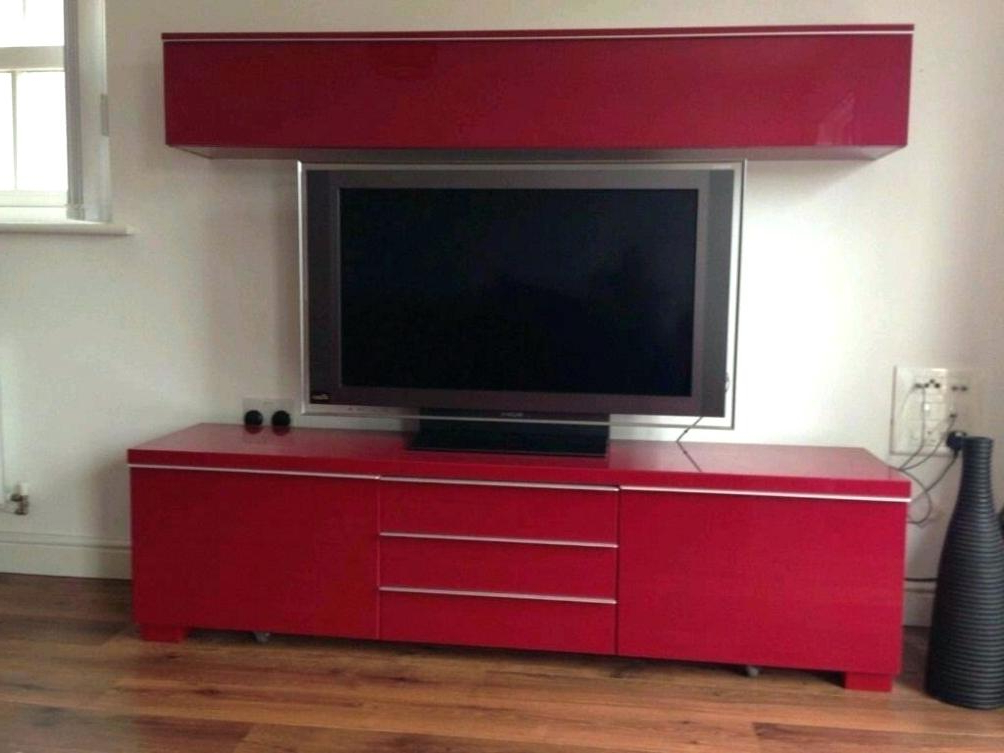 Best And Newest Red Gloss Tv Cabinets Regarding Red Gloss Tv Stands Black Led Wooden Stand Red High Gloss Tv Stand (Gallery 16 of 20)