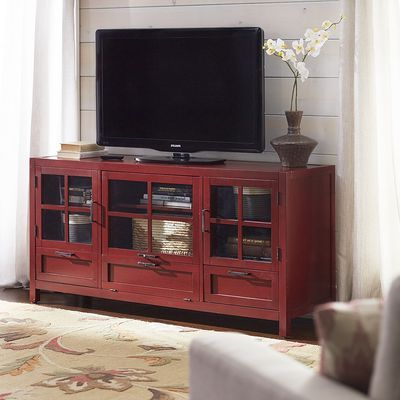 Best And Newest Red Tv Stands Regarding Sausalito Large Tv Stand – Antique Red (Gallery 17 of 20)