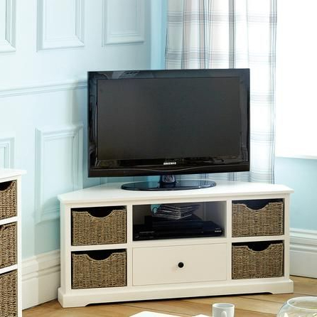 Best And Newest Small Corner Tv Cabinets Within Don't Mind This One – Could Put Baskets On Shelves To Dress Up Ikea (Gallery 6 of 20)