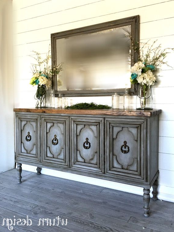 Best And Newest Sold!! Painted Grey Buffet/ Entryway Table/ Sideboard/ Tv Stand Pertaining To Sideboard Tv Stands (View 3 of 20)