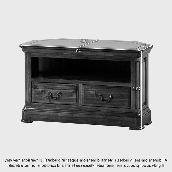 Best And Newest Solid Wood Black Tv Stands With Cranbrook Solid Hardwood Corner Tv Stand (View 6 of 20)
