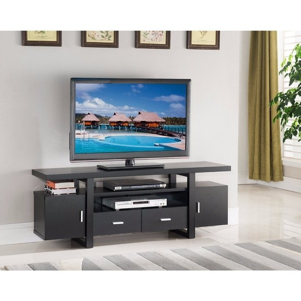Best And Newest Stylish Tv Stands For Shop Stylish Tv Stand With Utility Storage, Black – Free Shipping (View 2 of 20)