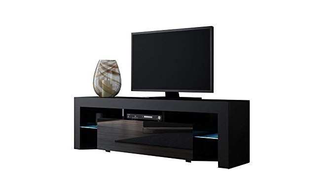 Best And Newest Tv Stand Milano 130 / Modern Led Tv Cabinet / Living Room Furniture With Regard To Sinclair Blue 74 Inch Tv Stands (Gallery 7 of 20)
