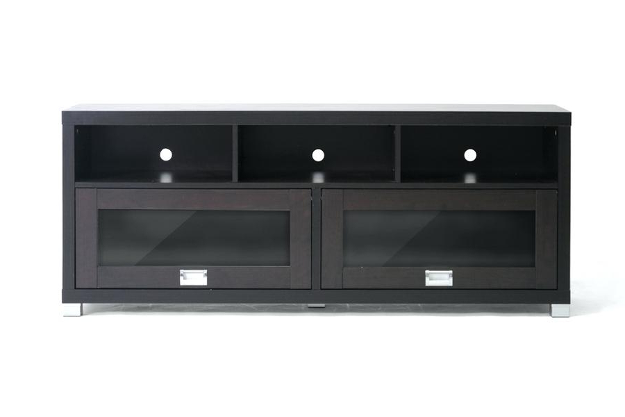 Best And Newest Tv Stand With Doors Modern Stand With Glass Doors Dark Brown Corner Pertaining To Dark Brown Corner Tv Stands (View 3 of 20)