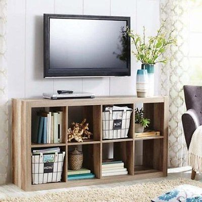 Best And Newest Tv Stands With Storage Baskets Regarding Organizer 8 Cube Storage Book Shelves Eight Square Tv Stand Toy Case (View 3 of 20)