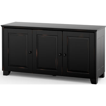 Best Tall Black Tv Stands Products On Wanelo With 2017 Tall Black Tv Cabinets (View 8 of 20)