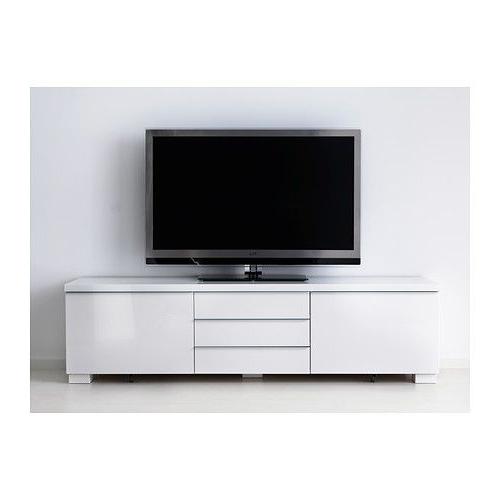 Bestå Burs Tv Unit, High Gloss White (Gallery 7 of 20)