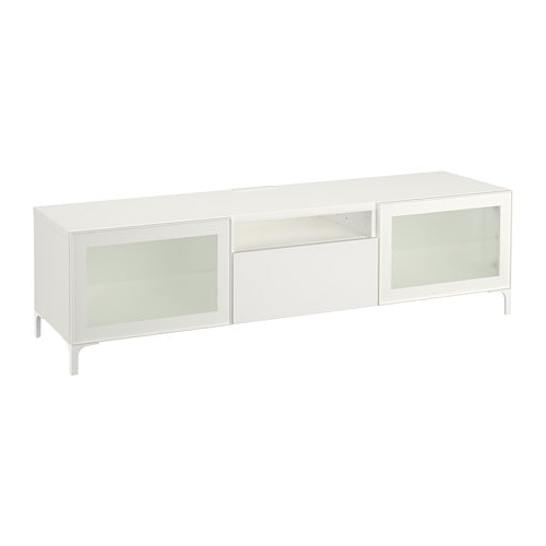 Bestå Tv Unit – White/selsviken High Gloss/white Frosted Glass With Regard To Most Recent Ikea White Gloss Tv Units (View 4 of 20)