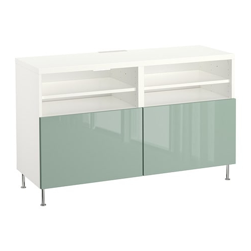 Bestå Tv Unit With Doors – White/selsviken/stallarp High Gloss/light Regarding Preferred Ikea White Gloss Tv Units (View 5 of 20)