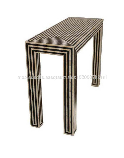Black And White Inlay Console Tables In Most Current Black And White Bone Inlay Console Table – Buy Console Table,french (View 5 of 20)
