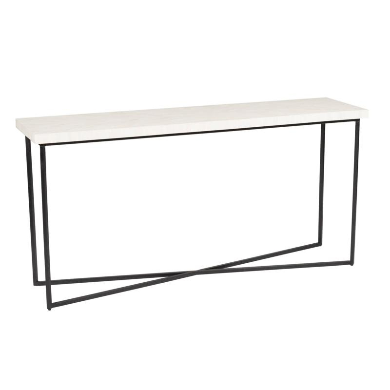 Black And White Inlay Console Tables Throughout 2018 Lh Imports Occasional Tables 5Th Avenue Console Table – Bone Inlay (View 7 of 20)