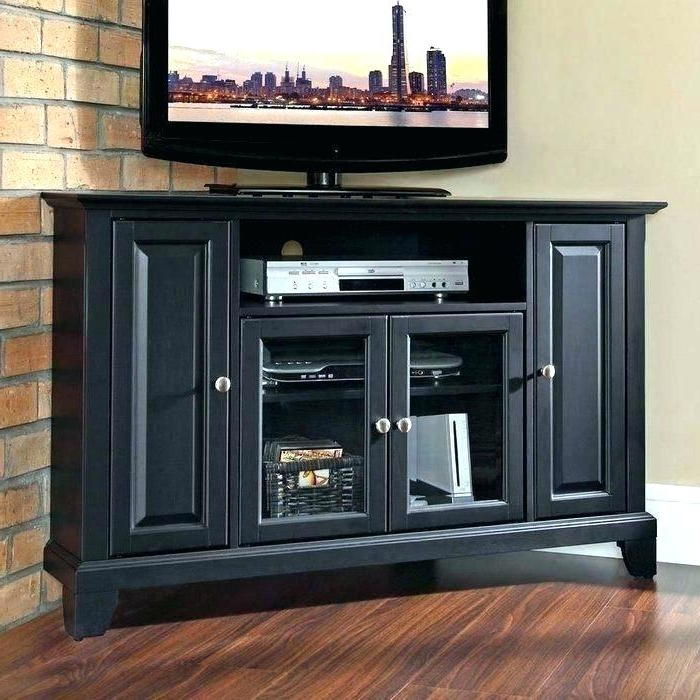 Black Corner Tv Cabinets For Widely Used Black Corner Tv Stand Target Cabinet For Television How To Build A (Gallery 16 of 20)