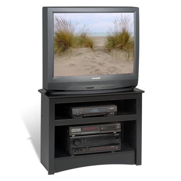 Black Corner Tv Cabinets Regarding Popular Shop Broadway Black Corner Tv Stand – Ships To Canada – Overstock (View 20 of 20)