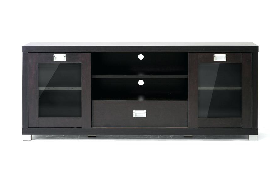 Black Corner Tv Cabinets With Glass Doors With Trendy Tv Stand With Doors 2 Door 2 Drawer Stand Corner Tv Stand Glass (View 7 of 20)
