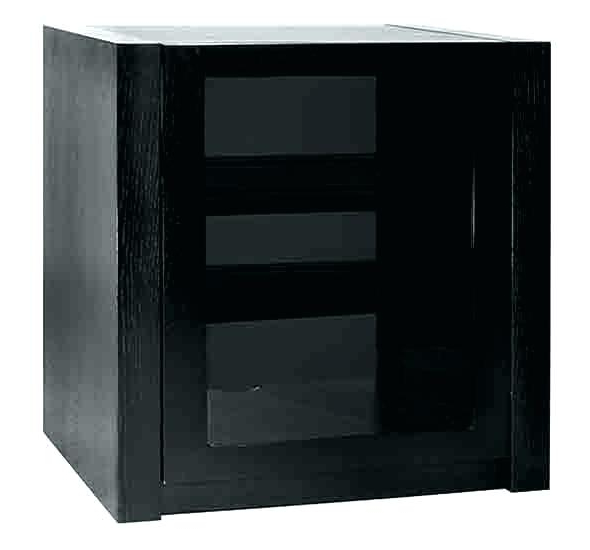 Black Corner Tv Stand Cabinet Glass Door Av Furniture Cubewith Pertaining To Most Up To Date Corner Tv Cabinets With Glass Doors (View 20 of 20)