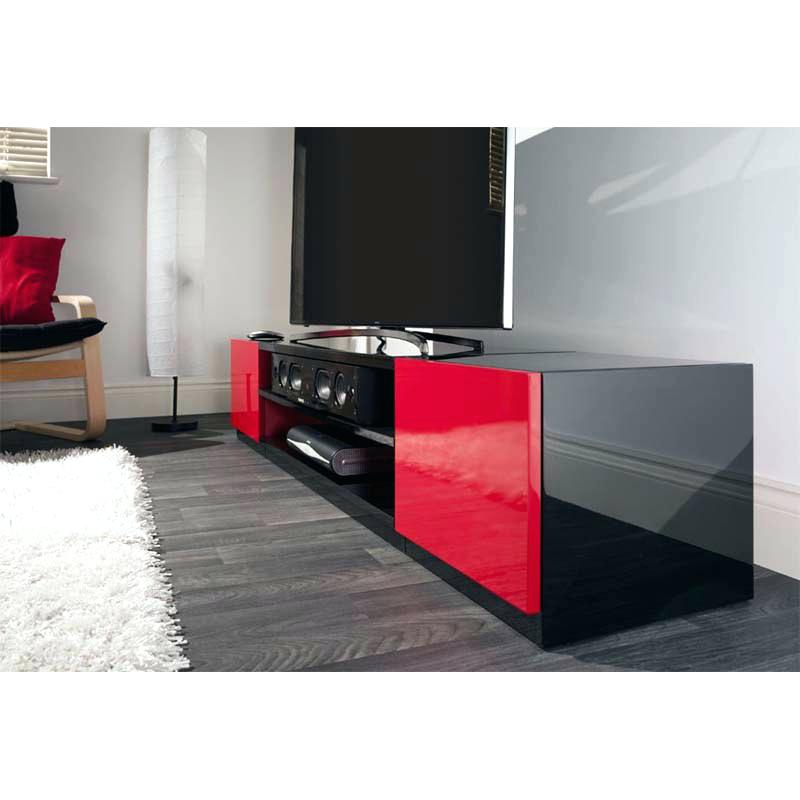 Black Credenza Stand Home Design Ideas Red Tv Stand Red And Black Throughout Popular Red Tv Stands (View 3 of 20)