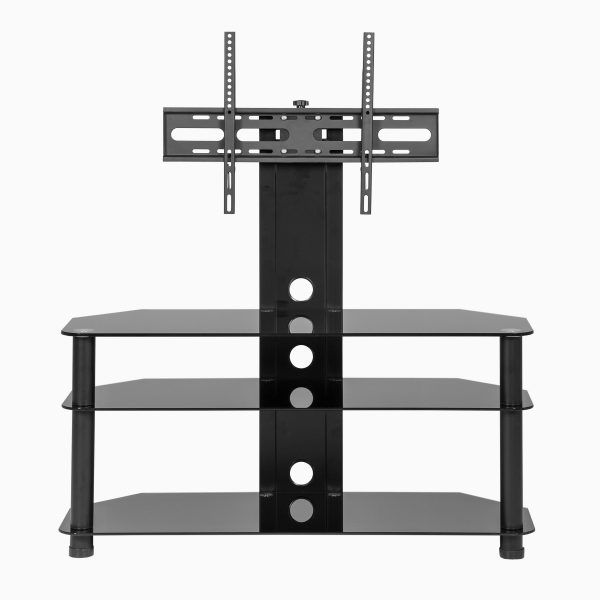Black Glass Cantilever Tv Stand Inside Fashionable Cheap Cantilever Tv Stands (View 20 of 20)