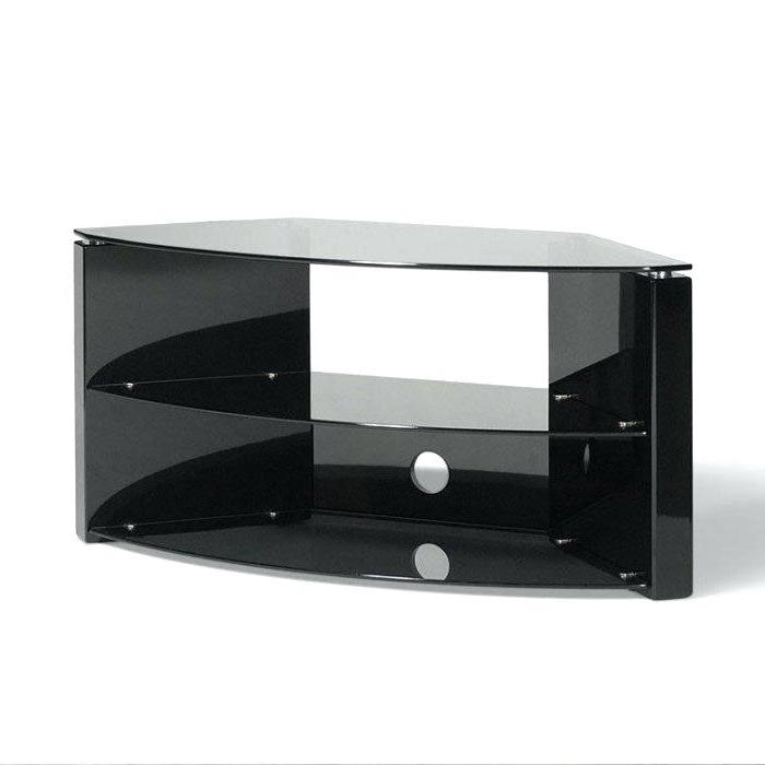 Black Glass Corner Tv Stand Job Lot Slimline Corner Stand Black Up Inside Well Known Techlink Bench Corner Tv Stands (View 2 of 20)